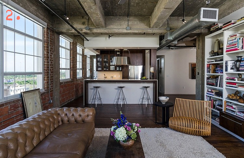 5x een industri le woonkamer - Appartement style industriel ...