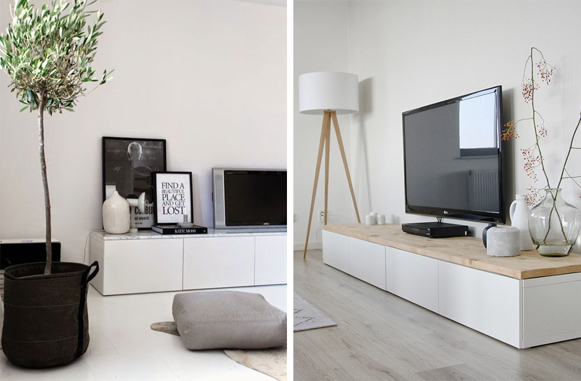 8x wit tv-meubel inspiratie