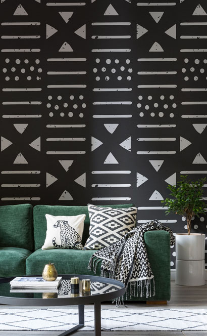 Tribal print behang5