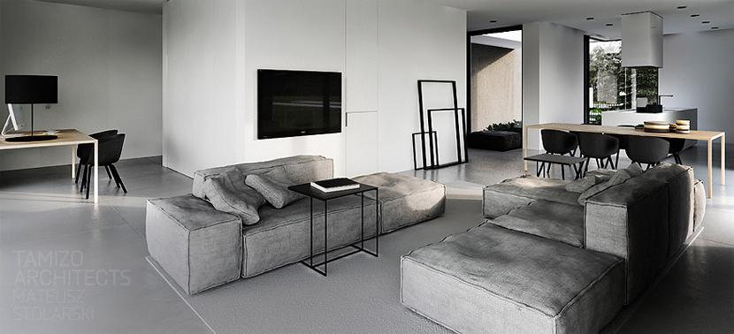 Bedwelming Zwart-wit-grijs interieur - Stripesandwalls.nl #JU33